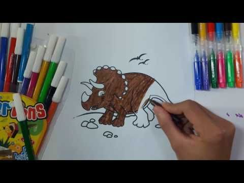 Coloring African RHINO Papes ANIMALS For Kid Two Years