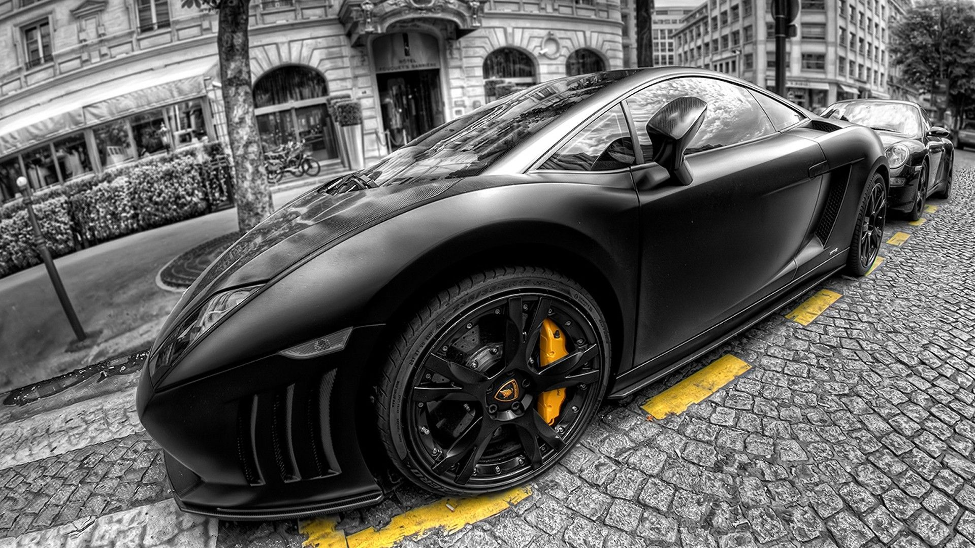 Black Lamborghini Aventador Supercar Hd Desktop Wallpaper High