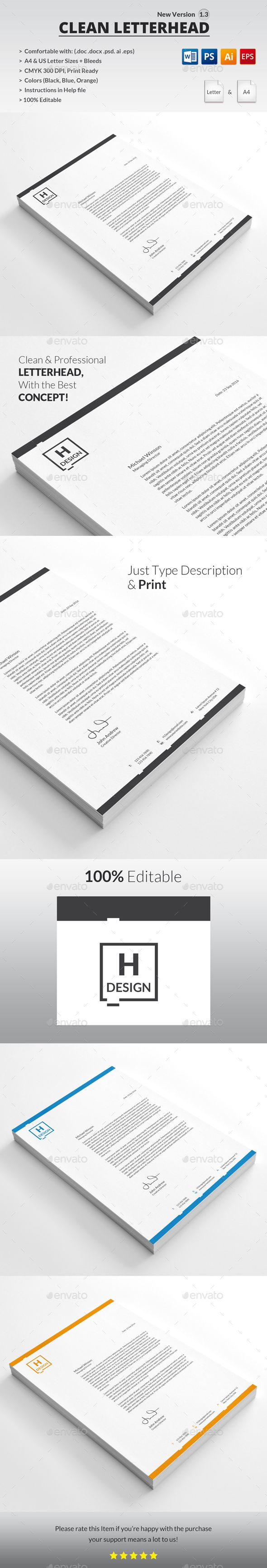 Letterhead PSD Template Word Psd O Download Graphicriver Item 15394954refpxcr