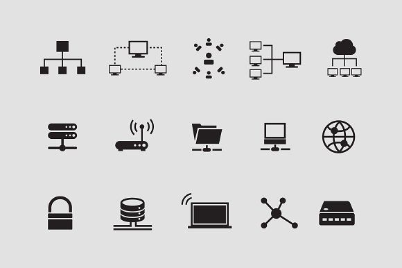 15 Network Internet Icons Internet Icon Data Icon Vintage Business Cards Template