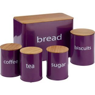 Purple Kitchen Storage Set From Homebase