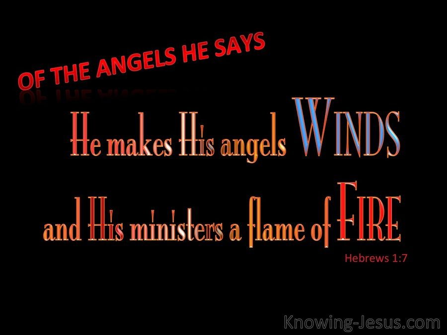 Hebrews 1-7 He Makes His Angels Winds And Flames Of Fire red