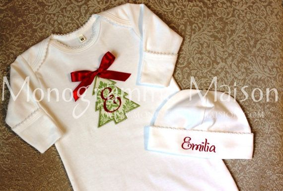 ccebf22ce Baby's First Christmas outfit Christmas Baby by MonogrammeMaison, $40.00