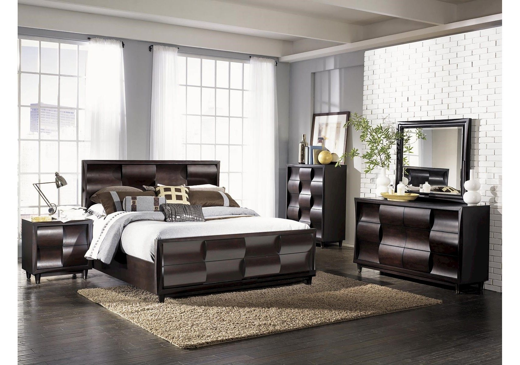 lacks fuqua 4 pc queen bedroom set furniture pinterest queen