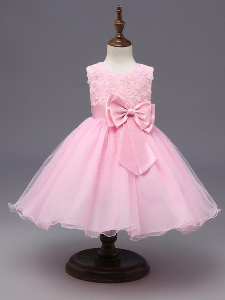 Girls wedding dress  Girls Pink Flower Tutu Party Dress Girls Wedding Dress Wedding