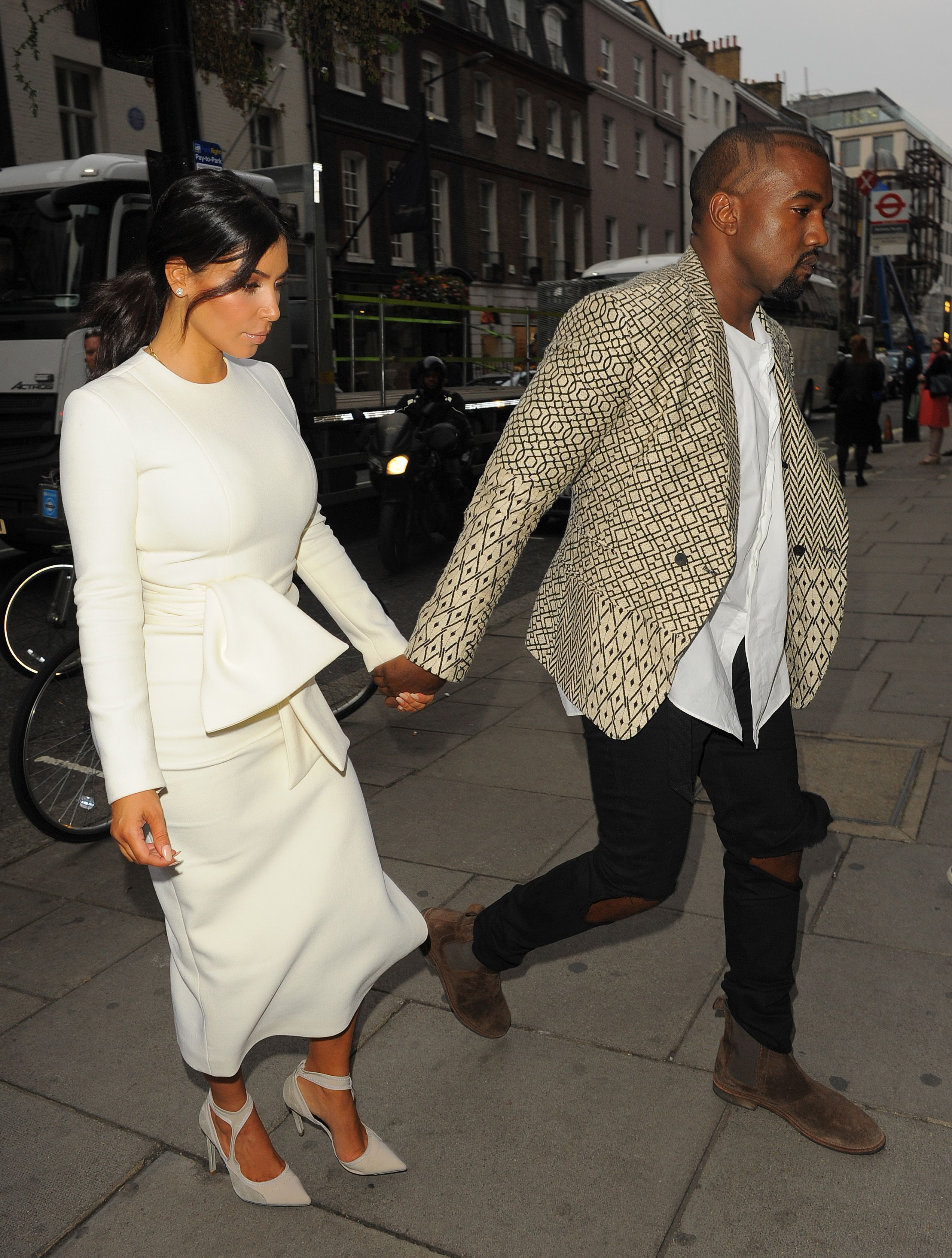 924b826d Kim and Kanye leaving The Dorchester Hotel and heading to Hakkasan  Restaurant in London