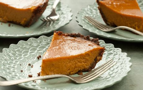 Coconut Gingersnap Sweet Potato Pie // Roasted sweet potatoes transform into a wonderfully sweet pie with subtle coconut flavor. The gingersnap crust is easy to make and adds an intense punch of flavor to each bite.