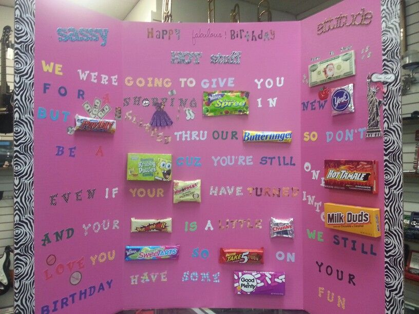 Pin By Lorianne Hatcher On Made It Birthday Candy Poster Candy Poster Birthday Candy