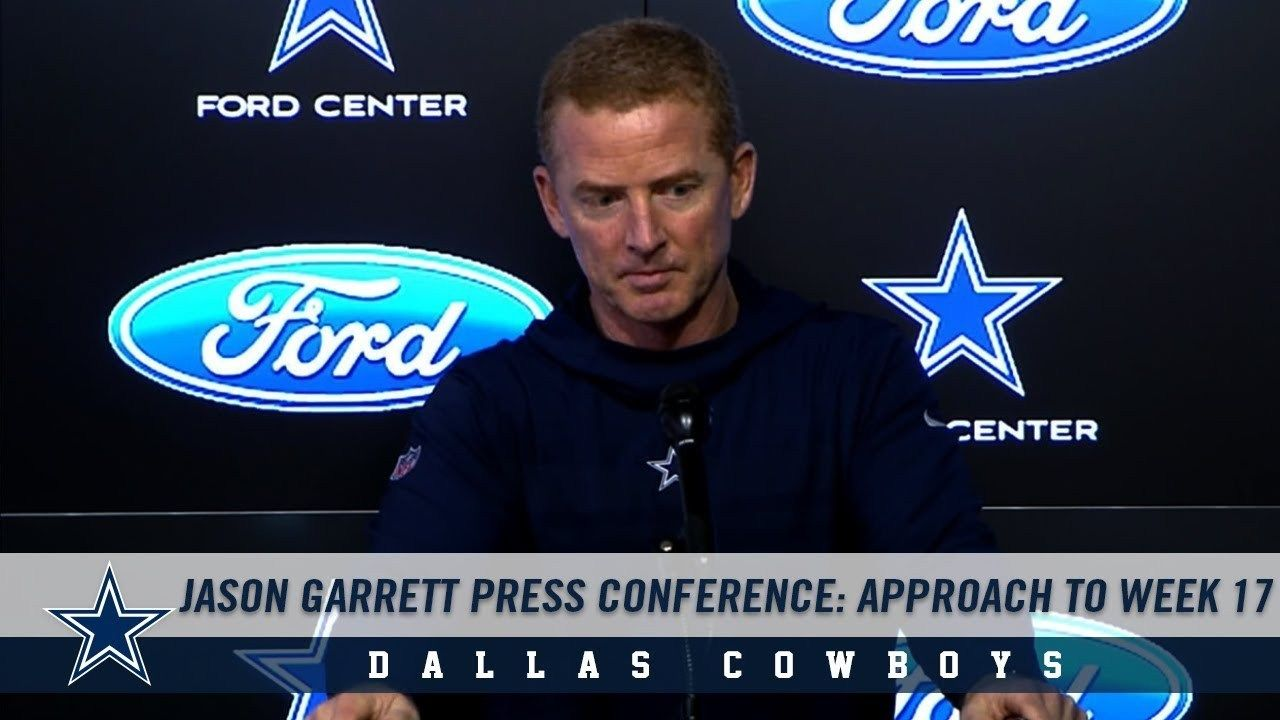 I liked a video Jason Garrett Press Conference Cowboys
