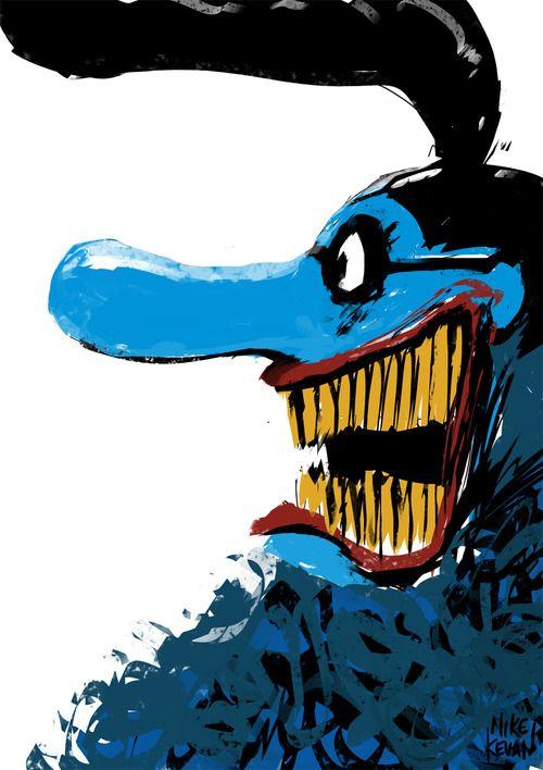 blue meanie mike kevan comic art mike kevan pinterest character design artsy fartsy. Black Bedroom Furniture Sets. Home Design Ideas