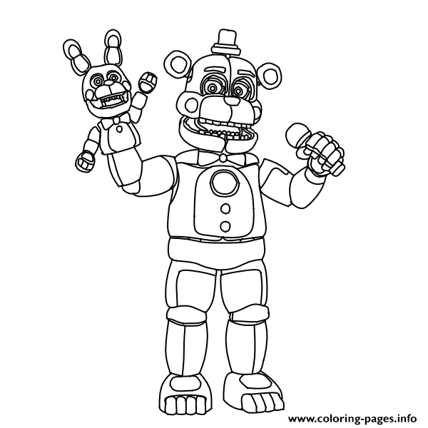 Funtime Foxy Coloring Page