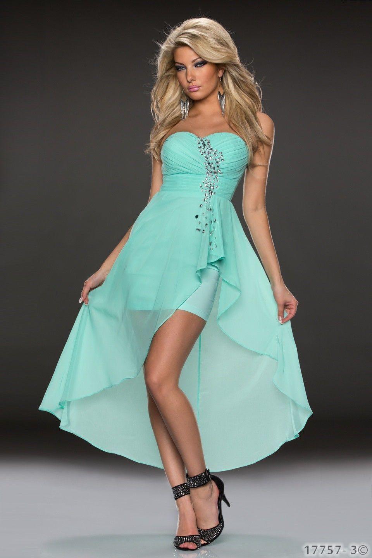 Vokuhila-Minikleid Kleid Chiffon dress verfügbar in vielen Modelle 3 ...