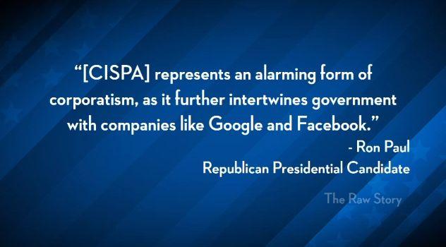 Ron Paul quote on CISPA