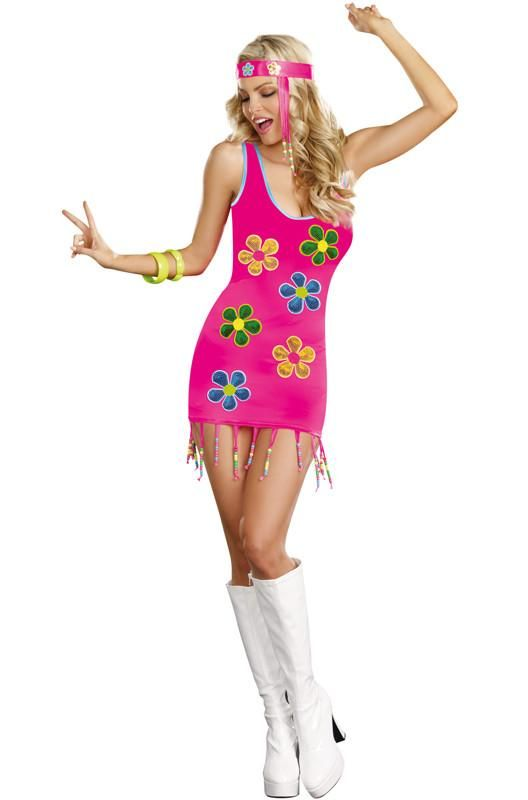 e37569e4eb5d Description  8864 You ll be one far out fox with this hippie costume! Groovy  Baby Costume features a dress with sequin appliques and a matching headband.