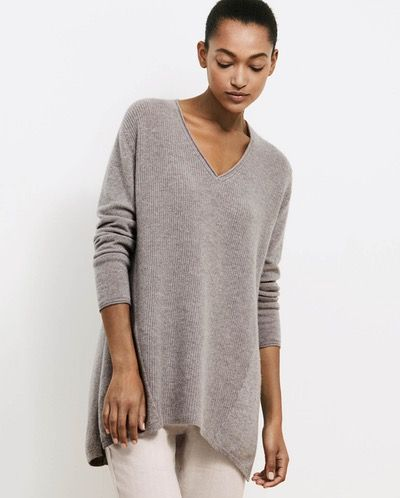 37be2010fdf Poetry - V-neck cashmere sweater - Generously styled with curved ...