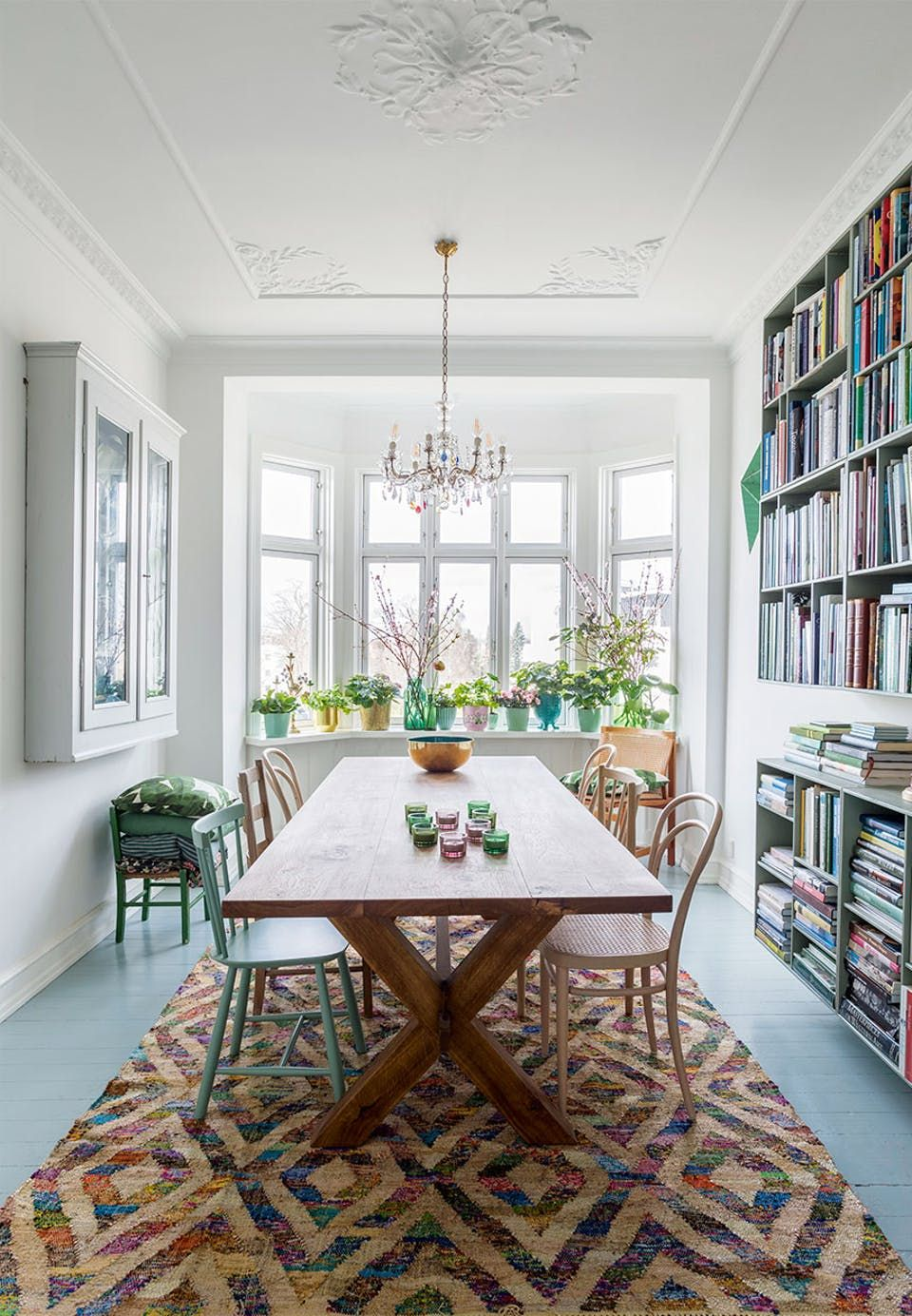 Green Color Palette Reigns in This Copenhagen Home | Green colour ...