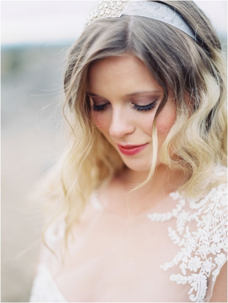 hair & makeup by amy clarke outdoor bridal photography bend oregon