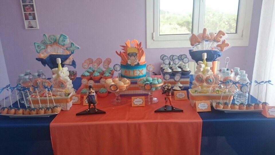 Naruto Party Cake Anime Party Cumpleanos Naruto Fiesta Manga