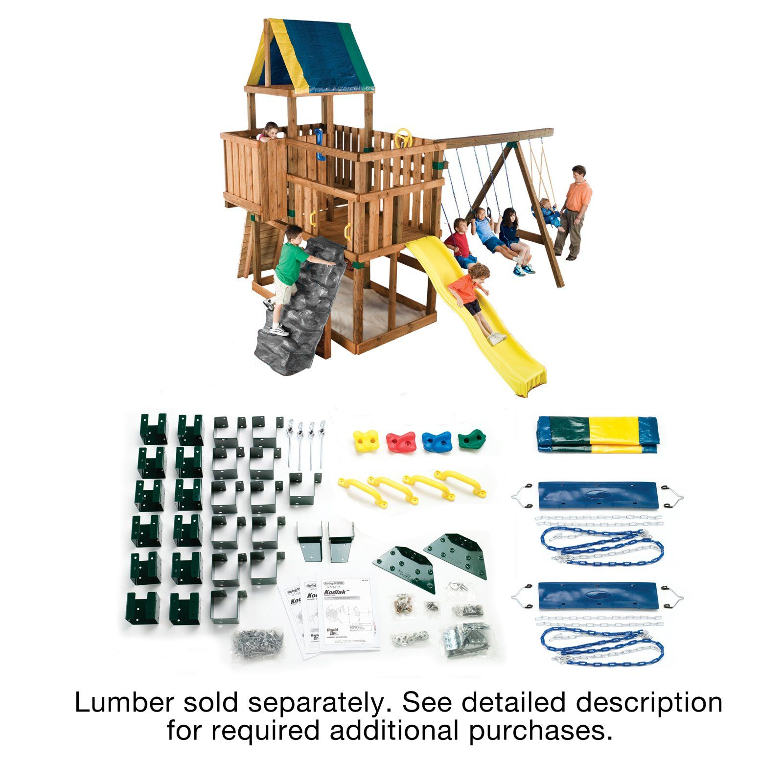 swing n slide kodiak swing set kit doing it yourself has never