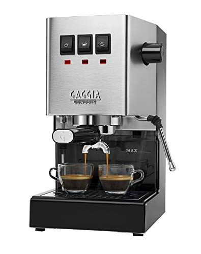 Gaggia RI9380/46 Classic Pro Espresso Machine, Solid, Brushed Stainless Steel #automaticespressomachine