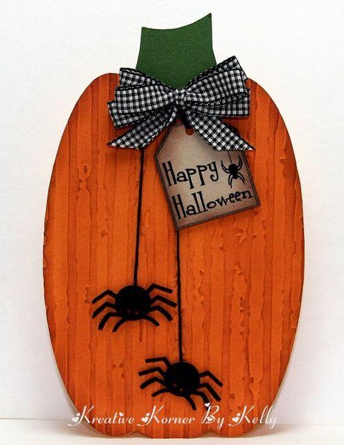Pumpkin shaped card #halloween #cards