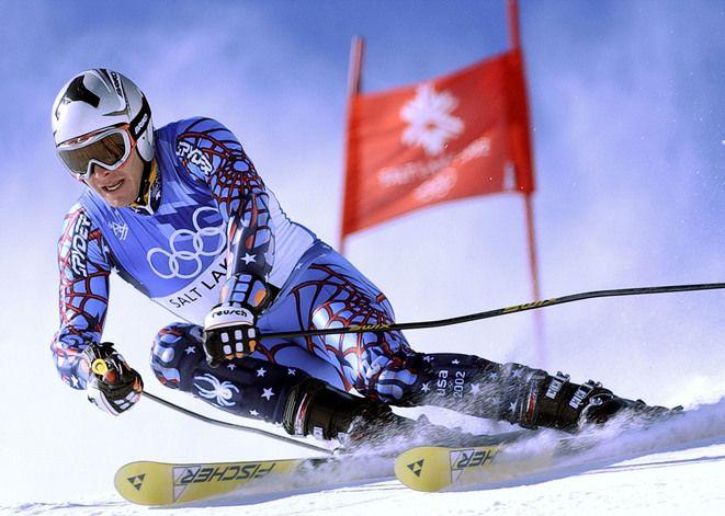 Bode Miller 2002 Olympic games, Salt Lake City, Utah U.S. Alpine ski-racer: Silver Medal in Giant Slalom & Combined