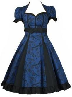 Blue Claudia Dress from Good Goth