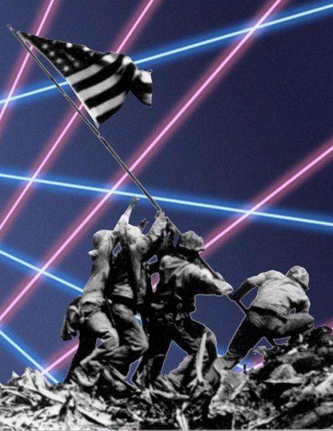 World War Ii Iwo Jima Flag Raising Photo With Late 80s Early 90s