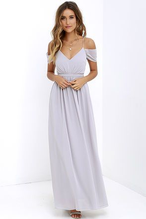 Quite The Charmer Grey Maxi Dress At Lulus