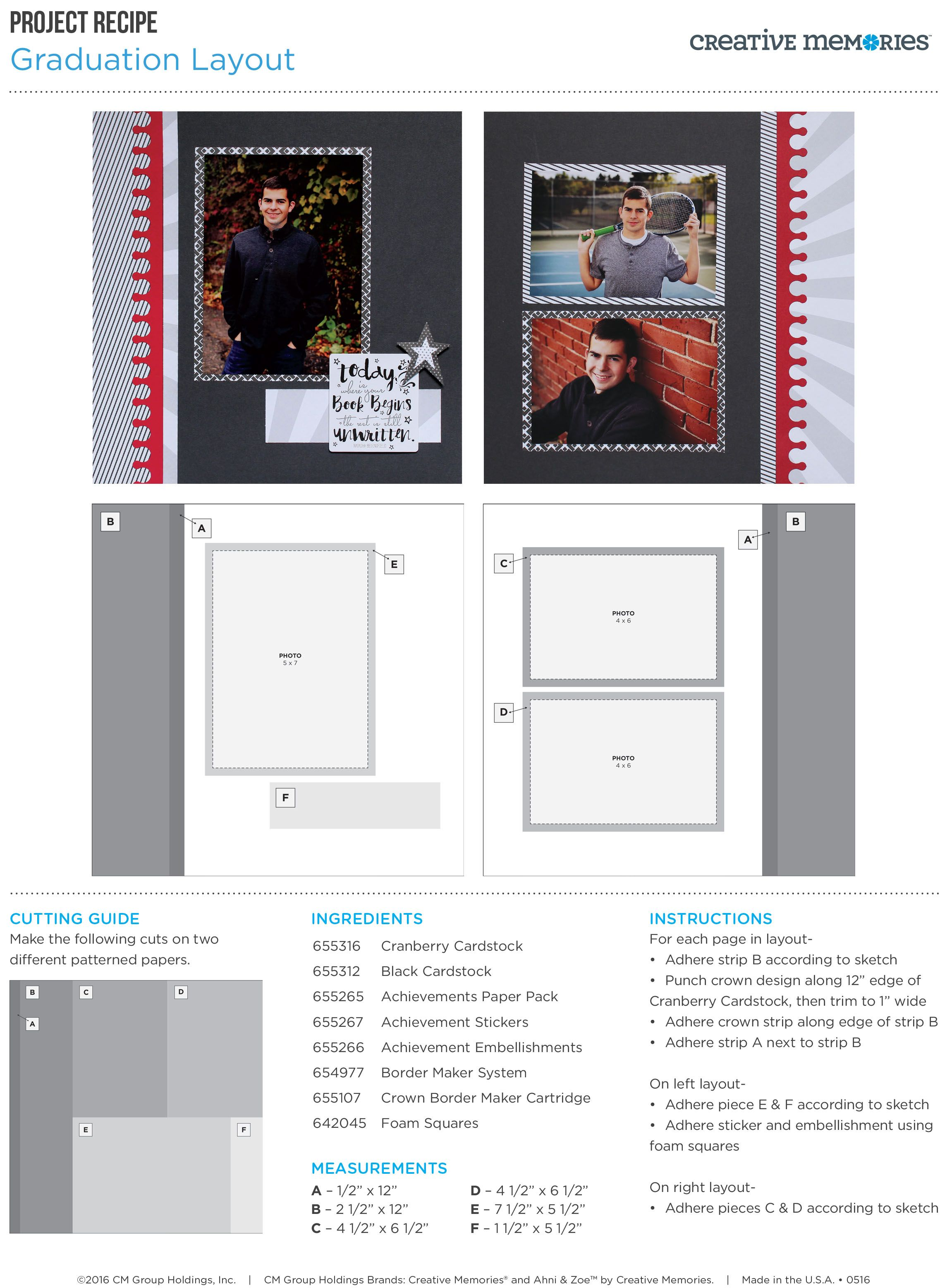 Project Recipes CM Creative Memories Project Recipes