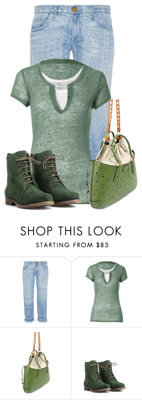 """""""Untitled #16852"""" by nanette-253 ❤ liked on Polyvore featuring Current/Elliott, Majestic, Fendi and JJ Footwear"""