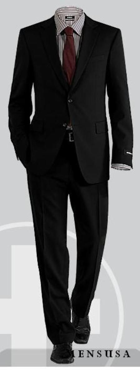 7631a581c72 Be a new fashion trend with high quality 2 button notch lapel solid black  men s suit.