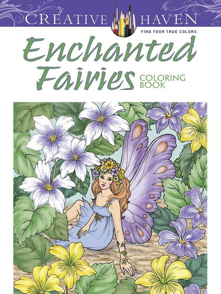 Coloring Book For Adults Kids Fairy Flowers Designs Art Relaxing Therapy