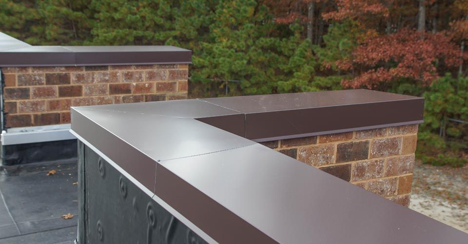 Amazing Metal Coping Miters. The Picture Shows Complicates Detail Of Metal Coping.