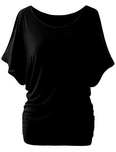 yanekop womens plus size dolman top scoop neck short sleeve cotton