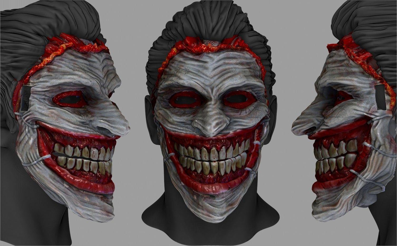 ArtStation - the joker mask, Stefanos Anagnostopoulos | Clown Mask ...