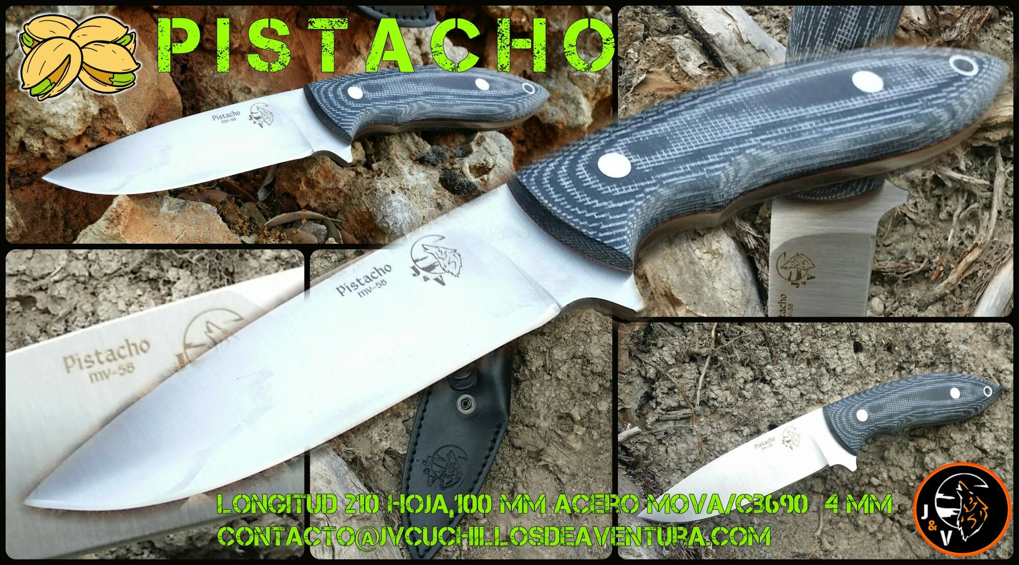 Cuchillo de Pistacho de J&V Cuchillos de Aventura / Pistacho Knife by J&V Adventure Knives.