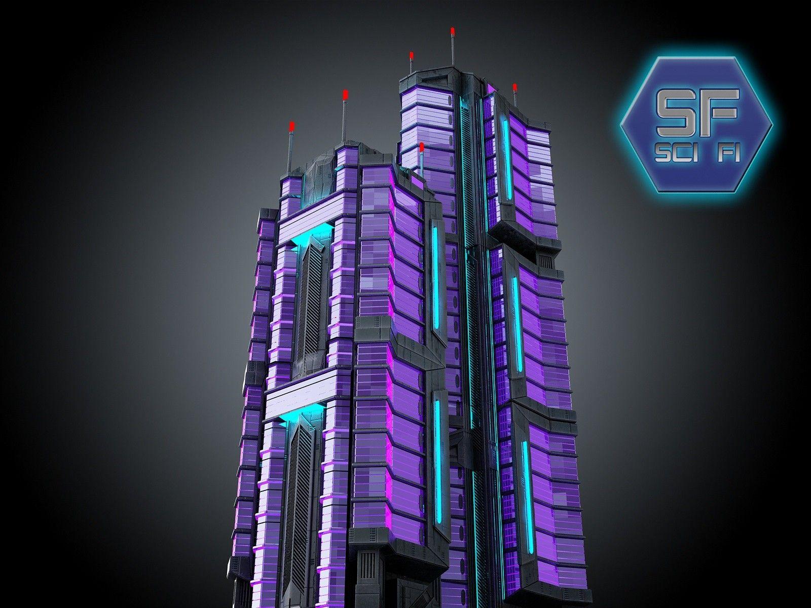 max sci fi futuristic building | Asset Scan 3d in 2019