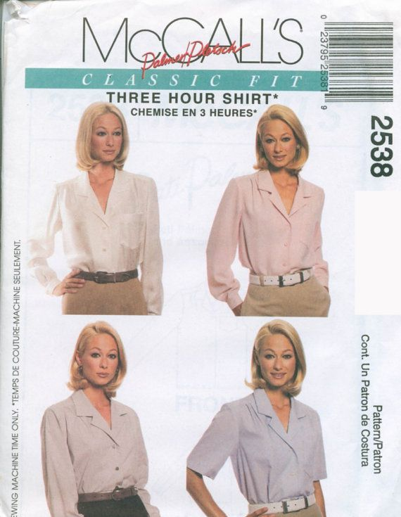 McCalls Pattern 60 Misses 60Hour Shirts Womens By SewbasicNY 6060 Cool Mccalls Patterns