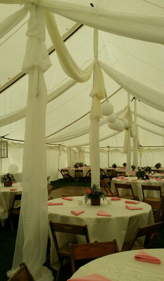 Vintage outdoor weeding theme. We did all the draping and tables. Helens flowers greenville, oh