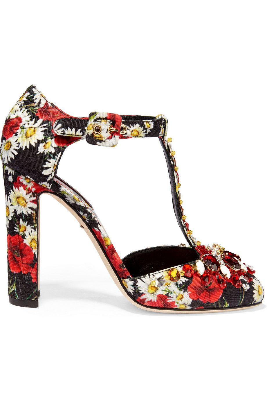 Dolce & Gabbana Embellished Jacquard T-Strap Pumps w/ Tags new arrival for sale outlet classic cheap geniue stockist 4Ekz8C