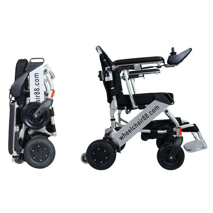 Foldawheel PW-999UL is the lightest power wheelchair in the world