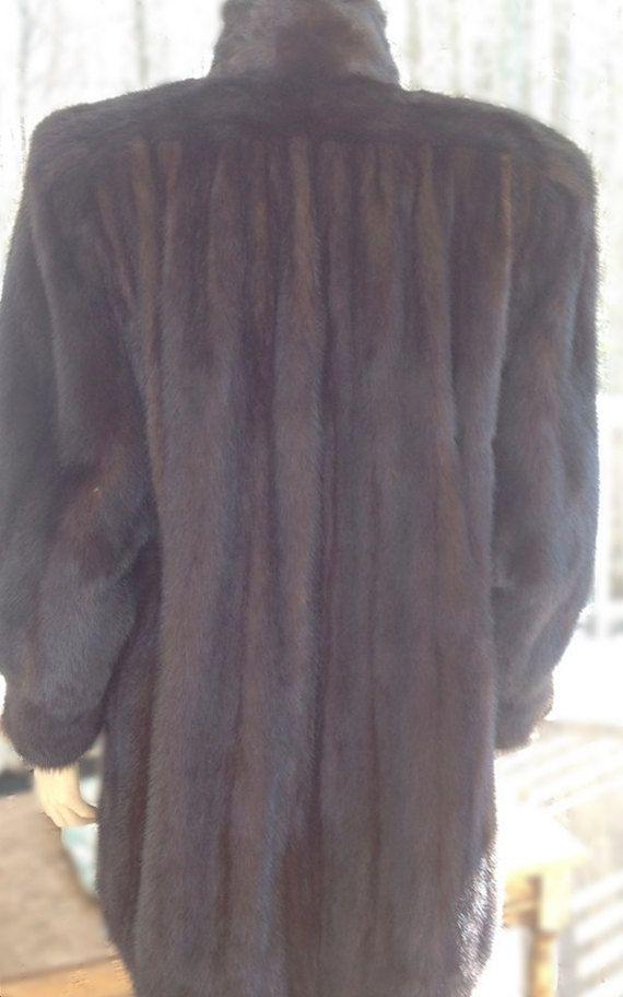 Vintage Mink Coat-1980s Fashion-Natural Mink Jacket-Fur Coat-Winter Coat-Ranch Mink Fur Coat-Mink Stroller-Womens Fur Coat, Rockabilly Coat