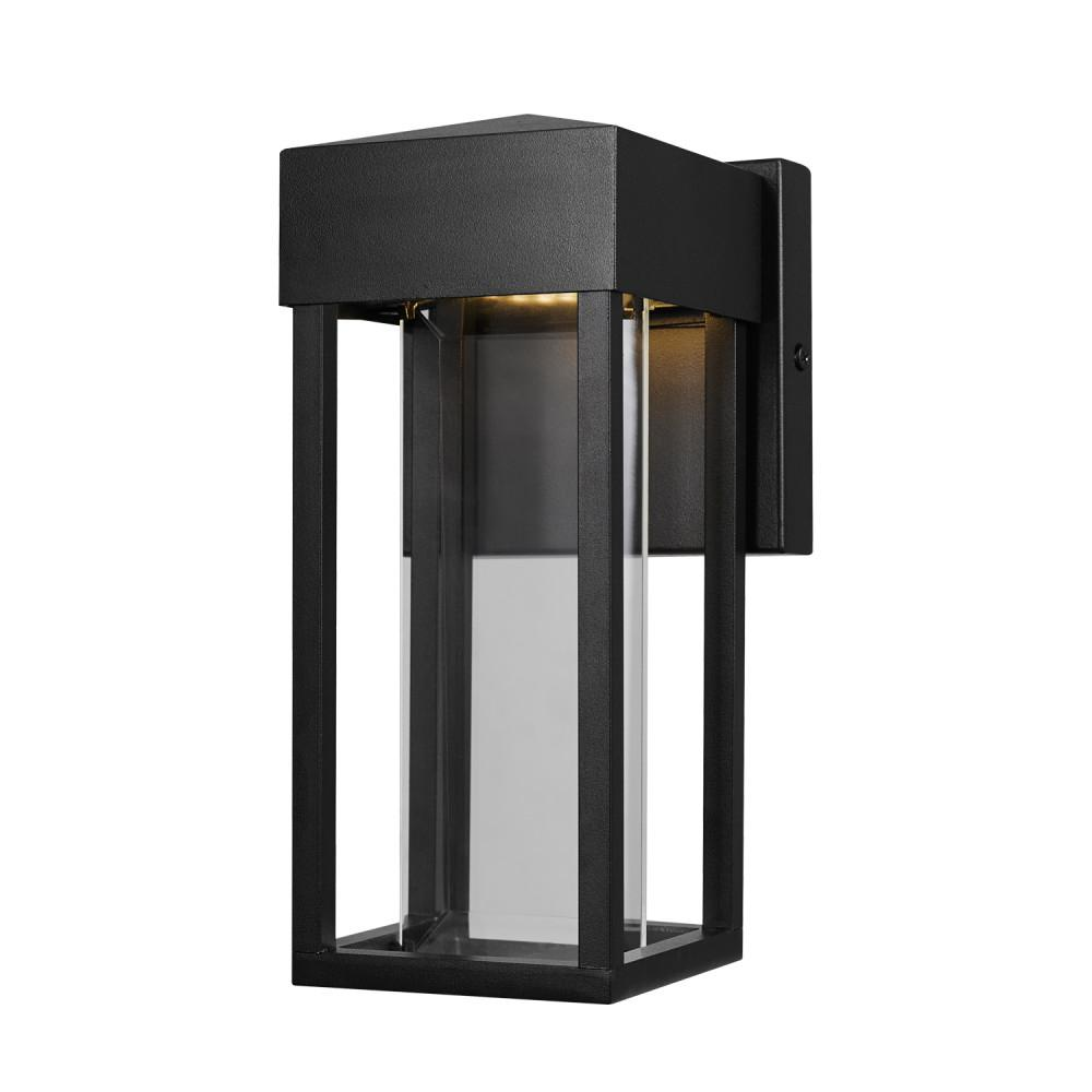 Globe Electric Bowie 10 Watt Matte Black Outdoor Integrated Led Wall Lantern Sconce 44246 With Images Indoor Wall Sconces Outdoor Wall Lighting Outdoor Wall Sconce