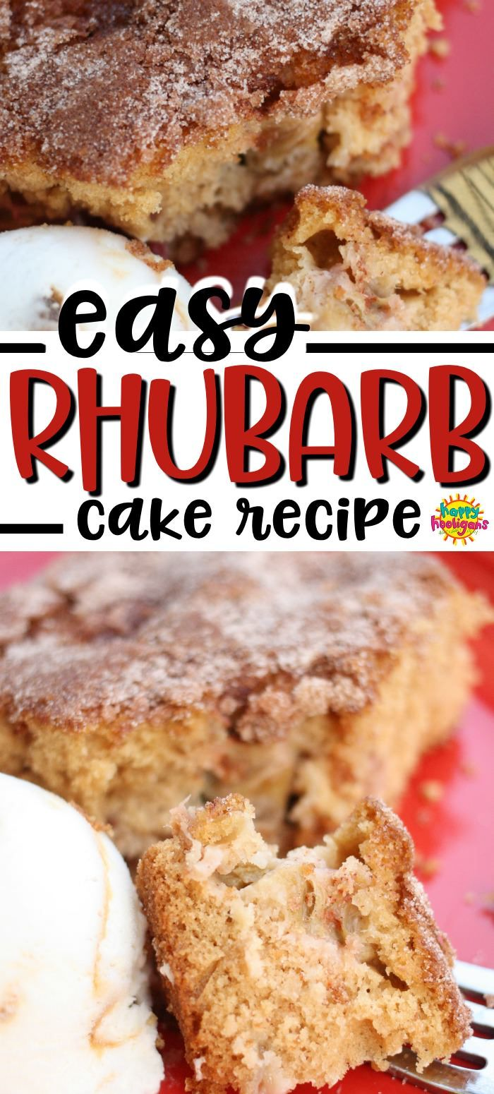 Best Easy Homemade Rhubarb Cake Recipe Rhubarb Cake Recipes Rhubarb Desserts Rhubarb Cake