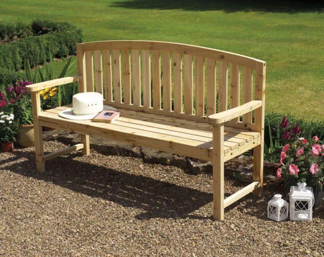 Outdoor Patio Garden Furniture 4 Seater Wooden Bench 640 x 480