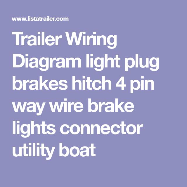 Trailer Wiring Diagram light plug brakes hitch 4 pin way wire ...