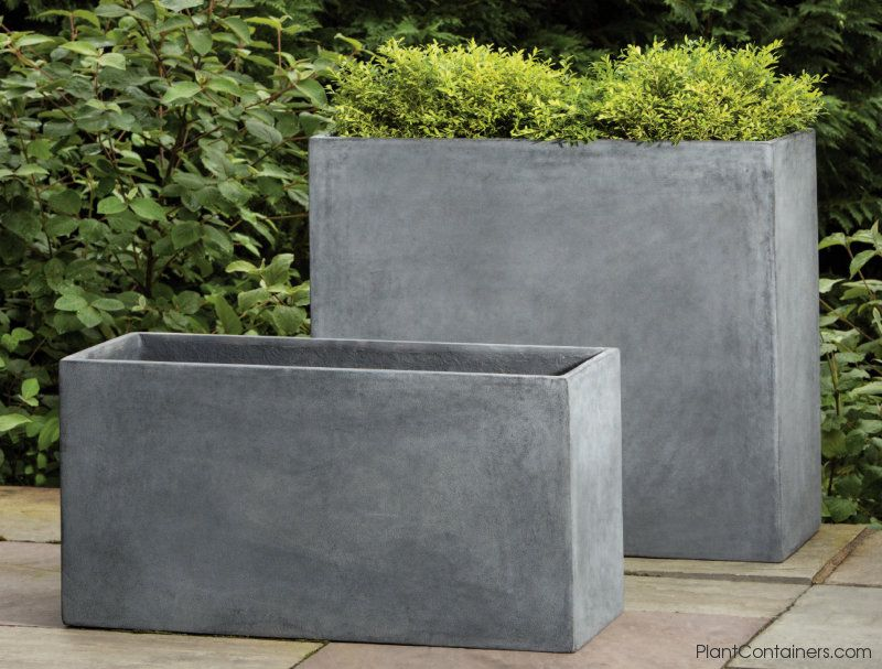 Fusion Collection Tall Rectangular Planters More Planter