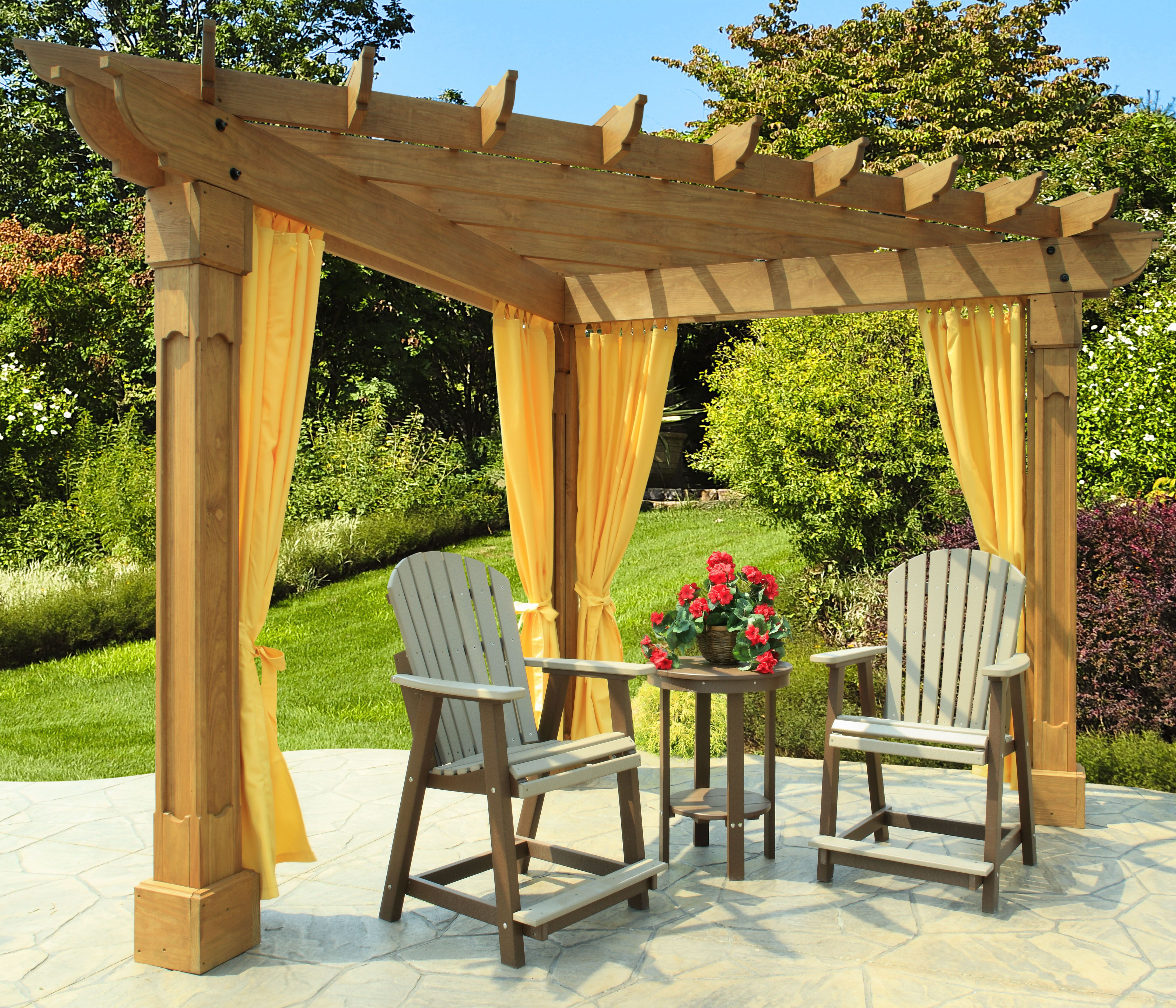 The Berlin Gardens Alcove pergola is made from treated