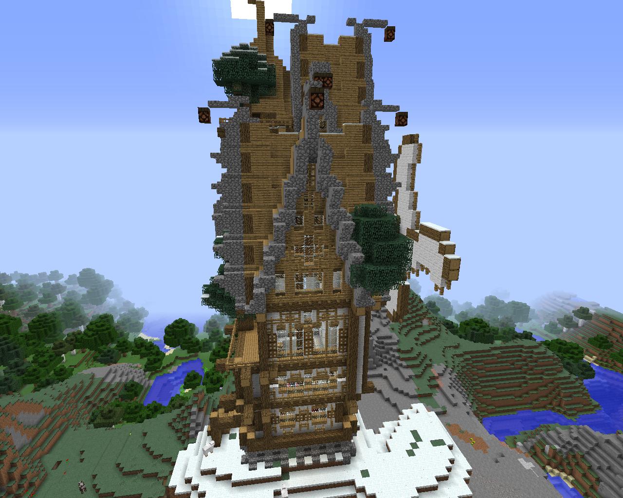 Maison Steampunk Minecraft Plan
